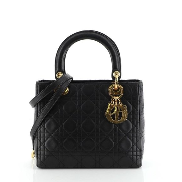 Dior Handbags - Dior Classic Lady Dior with Strap Quilted Cannage